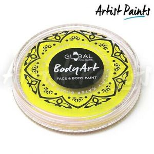 LIGHT YELLOW - 32g Global Colours Professional Face Paint Makeup Cake Body Art