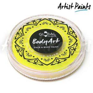 LIGHT YELLOW - 32g Global Colours Professional Face Paint Makeup Cake Body Art