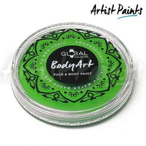 LIME GREEN - 32g Global Colours Professional Face Paint Makeup Cake Body Art