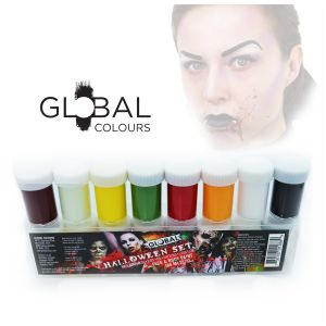 Halloween Set Face & Body Paint Liquid 8pkt