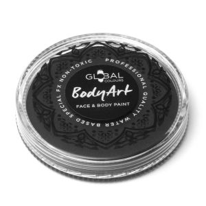 Black - 32g Global Colours Professional Face Paint Makeup Cake Body Art