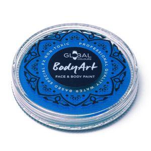 Neon Blue (UV) - 32g Global Colours Professional Face Paint Makeup Cake Body Art