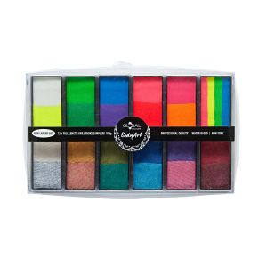 All You Need Bright & Shiny – Global Colours BodyArt Palette (24 Colours) 12 x 15g