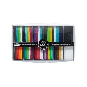 Rainbow Explosion – Global Colours BodyArt One Stroke Palette 12 x 15g Full Length One Strokes