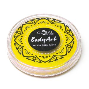 Neon Yellow (UV) - 32g Global Colours Professional Face Paint Makeup Cake Body