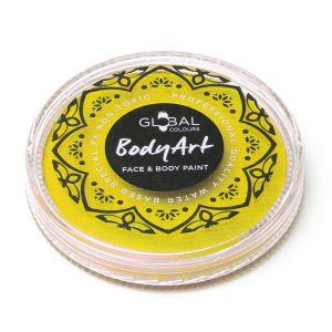 Yellow - Global Colours 32g Face & Body Paint Makeup Cake Body Art