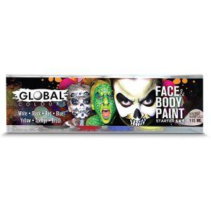 Starter Set Face & Body Paint Liquid 6pkt