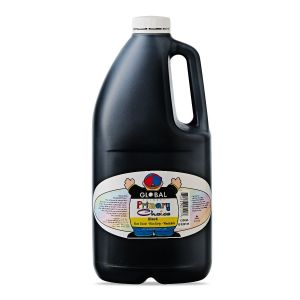 Black - Global Colours Primary Choice Acrylic Paint - 2 Litre