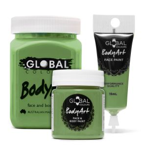 Olive Green 15/45/200ml Global Colours Body Art Face Paint Professional Makeup