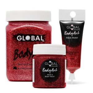 Red Glitter - Global Colours BodyArt Face Paint
