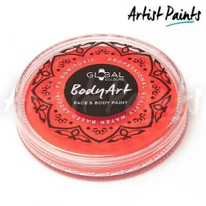 NEON ORANGE (UV) - 32g Global Colours Professional Face Paint Makeup Cake Body