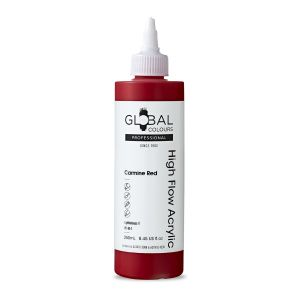 Carmine Red - Global Colours High Flow PROFESSIONAL Acrylic