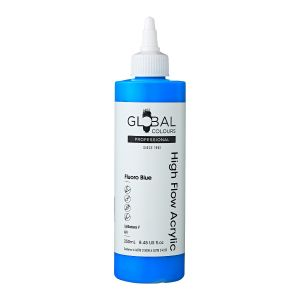 Fluoro Blue - Global Colours High Flow PROFESSIONAL Acrylic