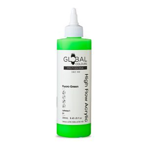 Fluoro Green - Global Colours High Flow PROFESSIONAL Acrylic
