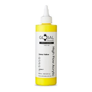 Hansa Yellow - Global Colours High Flow PROFESSIONAL Acrylic
