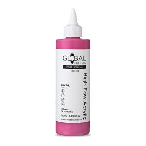 Fuschia - Global Colours High Flow PROFESSIONAL Acrylic