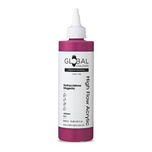 Quinacridone Magenta - Global Colours High Flow PROFESSIONAL Acrylic
