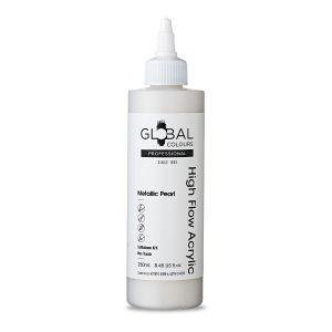 Metallic Pearl - Global Colours High Flow PROFESSIONAL Acrylic