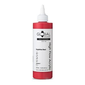 Naphthol Red - Global Colours High Flow PROFESSIONAL Acrylic