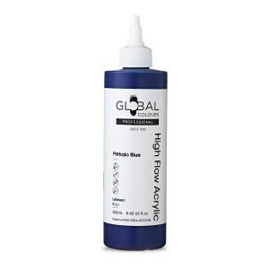 Phthalo Blue - Global Colours High Flow PROFESSIONAL Acrylic