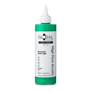 Permanent Green Light - Global Colours High Flow PROFESSIONAL Acrylic