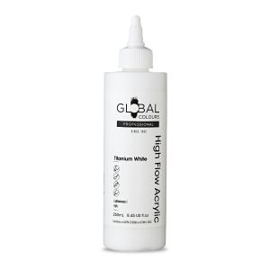 Titanium White - Global Colours High Flow PROFESSIONAL Acrylic