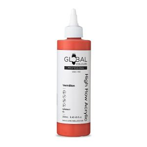 Vermillion - Global Colours High Flow PROFESSIONAL Acrylic