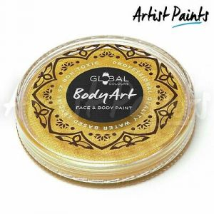 METALLIC GOLD - 32g Global Colours Professional Face Paint Makeup Cake Body Art