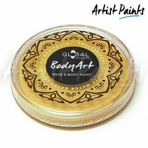 METALLIC GOLD - 32g Global Colours Professional Face Paint Makeup Cake Body Art
