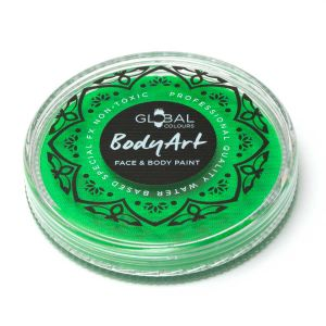 Neon Green (UV) - Global Colours 32g Face & Body Paint Makeup Cake Body Art