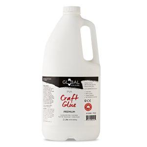 PVA Glue White (Non Toxic) - 2 Litre | Global Colours Craft Glue