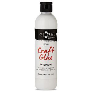 PVA Glue White (Non Toxic) - 250ml | Global Colours Craft Glue