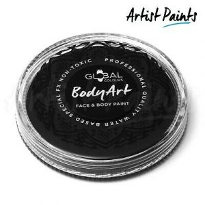 BLACK - 32g Global Colours Professional Face Paint Makeup Cake Body Art