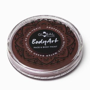 Rose Brown - Global Colours 32g Face & Body Paint Makeup Cake Body Art