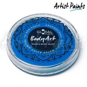 NEON BLUE (UV) - 32g Global Colours Professional Face Paint Makeup Cake Body Art