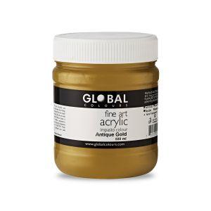 Antique Gold - Global Colours Fine Art Acrylic Impasto 500ml