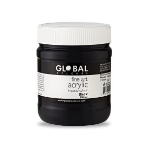 Black - Global Colours Fine Art Acrylic Impasto 500ml