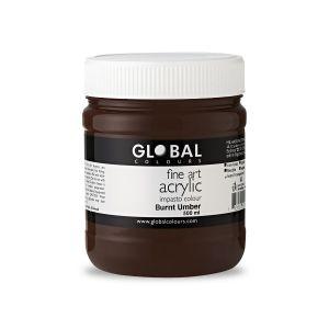 Burnt Umber - PROFESSIONAL Global Colours Fine Art Acrylic Impasto 500ml