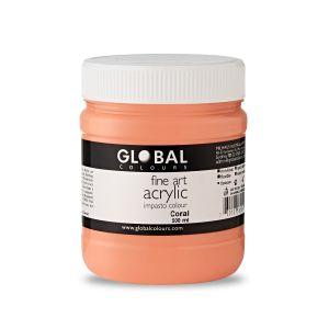 Coral - Global Colours Fine Art Acrylic Impasto 500ml