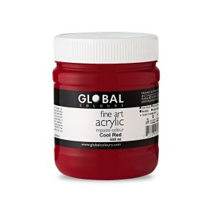 Cool Red - Global Colours PROFESSIONAL Fine Art Acrylic Impasto 500ml