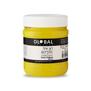 Cool Yellow - Global Colours PROFESSIONAL Fine Art Acrylic Impasto 500ml