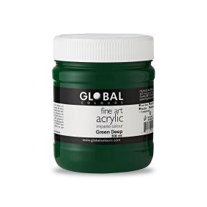 Green Deep - Global Colours PROFESSIONAL Fine Art Acrylic Impasto 500ml