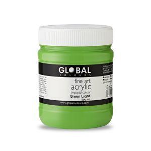 Green Light - Global Colours PROFESSIONAL Fine Art Acrylic Impasto 500ml