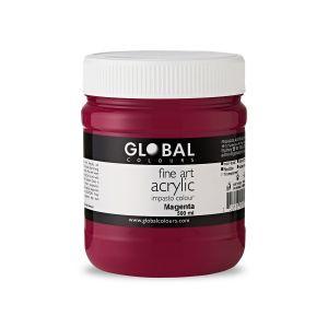 Magenta - Global Colours PROFESSIONAL Fine Art Acrylic Impasto 500ml