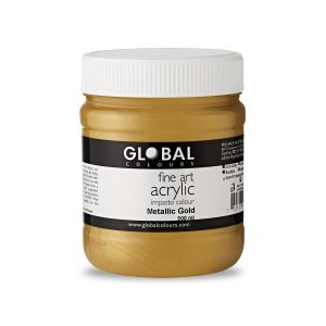 Metallic Gold - Global Colours Fine Art Acrylic Impasto 500ml