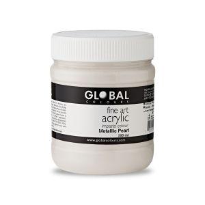 Metallic Pearl - Global Colours Fine Art Acrylic Impasto 500ml