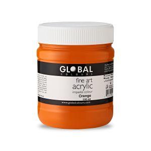 Orange - Global Colours PROFESSIONAL Fine Art Acrylic Impasto 500ml