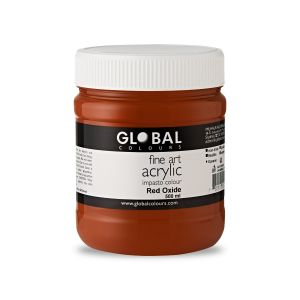Red Oxide - Global Colours PROFESSIONAL Fine Art Acrylic Impasto 500ml