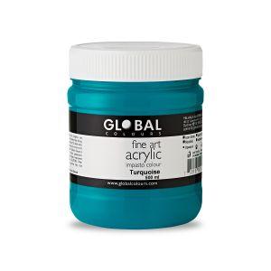 Turquoise - Global Colours PROFESSIONAL Fine Art Acrylic Impasto 500ml