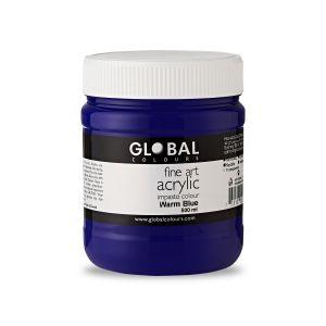 Warm Blue - Global Colours PROFESSIONAL Fine Art Acrylic Impasto 500ml